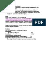 Catalogue Course Description