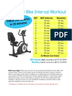 moderate stationary bike interval workout