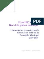 planificación Municipal