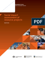 Social Impact Assessment of Resource Development Projects Franks 2012