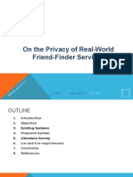 On the Privacy of Real World Friend Finder Services