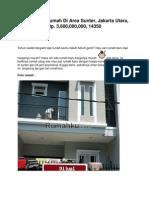 Iklan Dijual Rumah Di Area Sunter, Jakarta Utara, Rp. 3,600,000,000, 14350 - Www.rumahku.com