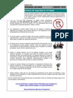 Charla Integral de SSSE N 037 Disposiciones de Seguridad en El Trabajo