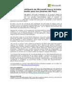 150127 Microsoft_Programa YouthSpark de Microsoft busca brindar oportunidades para los jóvenes del Perú