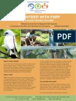 Nusa Penida Volounteer Flier From FNPF Web Site