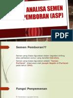 Analisa Semen Pemboran (ASP)