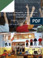 poverty inequality  common core education