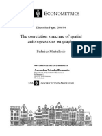 The correlation structure of spatial autoregressions on graphs