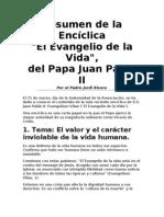 Resumen de la Encíclica Evangelio de la vida