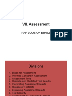 VII Assessment PPT Reporting