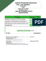 Janalakshmi Financial Services Pvt Ltd Coca Report