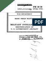 1940 FM 30-30 ID U.S. Government Aircraft