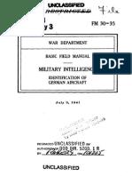 1941 FM 30-35 ID German Aircraft