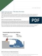 High Velocity Data   ScaleDB