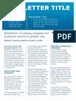 Business Newsletter Template 2