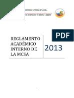 Reglamento Académico Interno MCSA