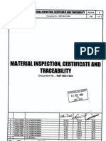 Material Certificate and Tracability
