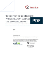 The Impact of the Russian Wine Embargo Estimation of the Economic Impact