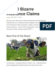 Top 10 Bizarre Insurance Claims