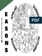 Seasons Colouring Page - Four Seasons (2)