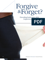 Forgive & Forget? Decoding Bankruptcy Debt Forgiveness Rules