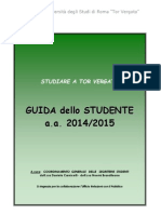 Guida dello studente Tor Vergata 2014-2015