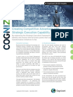 Creating Competitive Advantage with Strategic Execution Capability