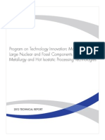 Manufacture of Large Nuclear and Fossil Components Using Powder Metallurgy and Hot Isostatic Proce Ssing Technologies