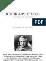 Kritik Arsitektur