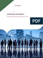 Le Directeur Des Achats - Quels Enjeux Et Quelles Perspectives de Carriere - Capgemini Consulting