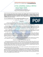 Evaluation of the reliability indices 400 Kv Iraqi Super Grid