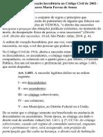 Vocação Hereditária No Código Civil de 2002
