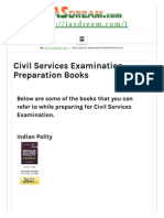 Civil Services Preparation Books _ IAS Dream
