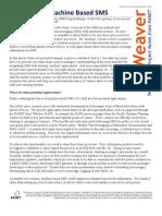 Methods For Machine BasedSMS