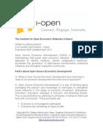 Open Source Economic Development FAQ's