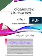 Curs 2 Tehnici de Comunicare