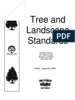Tree and Landscape Standards