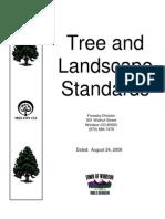 Tree and Landscape Standards
