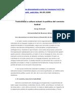 Dubatti Teatralidad y Cultura Actual - La Política Del Convivio Teatral