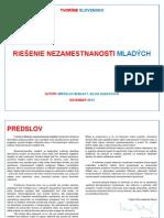 Tvoríme Slovensko - Riesenie Nezamestnanosti Mladych