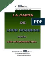 Hugo Von Hofmannsthal - Carta de Lord Chandos