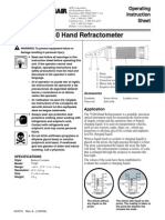75240 Refractometer Operating Instruction Sheet