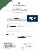 Procura Trani 05.12.2014 Usura Bancaria