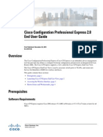 Cisco Configuration Professional Express 2.8 End User Guide