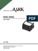 User Guide Lexmark e240