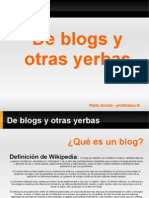 Blogs (version antigua de la presentación)