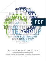 Intergroup Activity Report 2009-2014