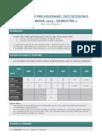 Calendrier Previsionnel TM2015 France Semestre1