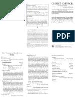 January 11 Bulletin - 11 a.m. - Large Print