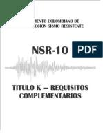 NSR 2010 - Titulo K